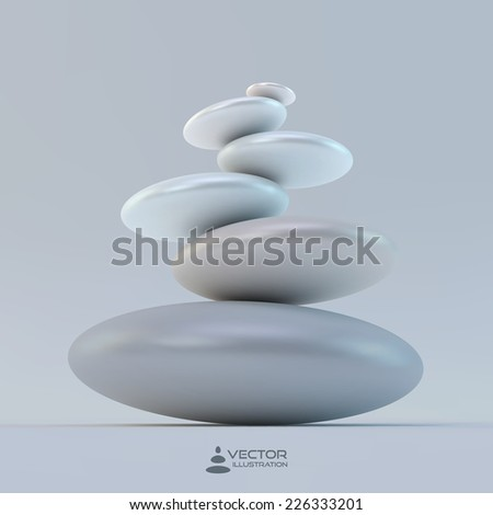 Spa stones. Vector 3d illustration. - stock vector