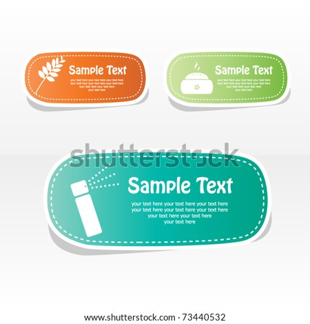 Spa vector sticker with place for your text - stock vector