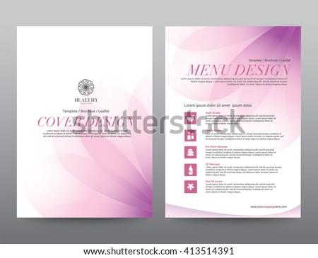 Spa Wellness Medical topic Template elements, Presentation, brochure poster flyer leaflet, vector illustration design - stock vector