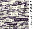 SPA. Word collage. Seamless illustration. - stock vector