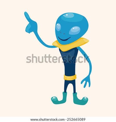 space alien theme elements vector,eps - stock vector