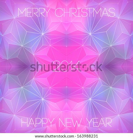 Space background. New Year - stock vector
