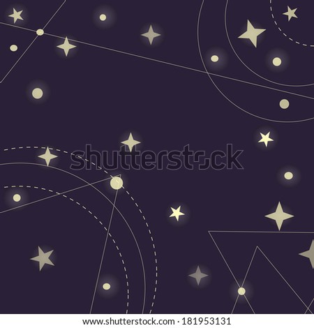 space background , space - stock vector