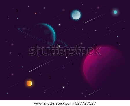 Space background. Vector illustration - stock vector