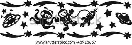 space banner - stock vector