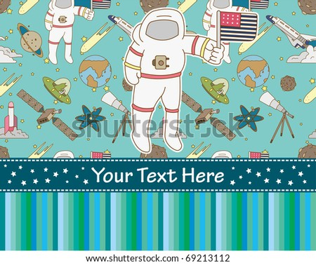 space card - stock vector