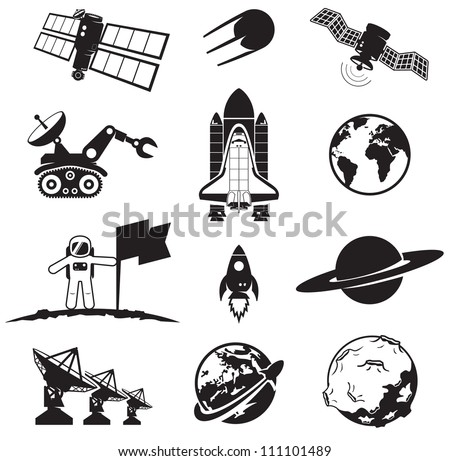Space collection - stock vector