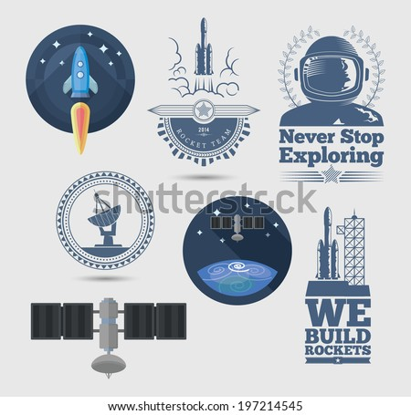 Space design elements. EPS10. - stock vector