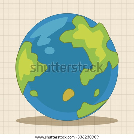 Space earth theme elements vector, eps - stock vector