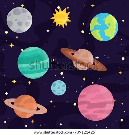 Solar System Cartoon Stock Illustration 96053903 ...