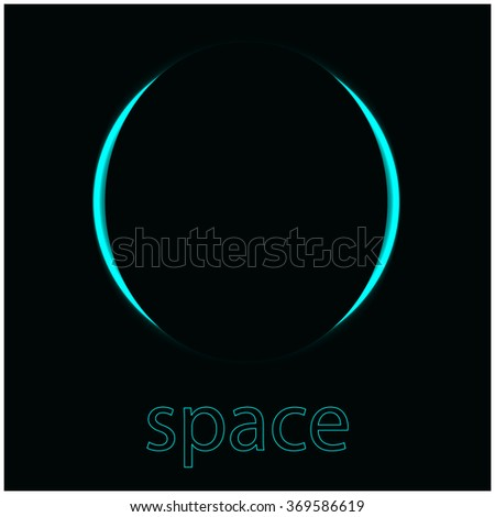 Space planet - stock vector