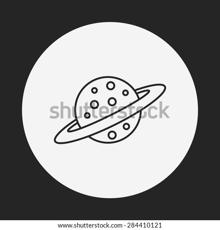 Space planet line icon