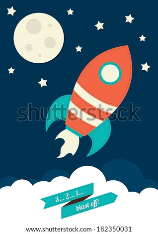 Space Rocket - stock vector