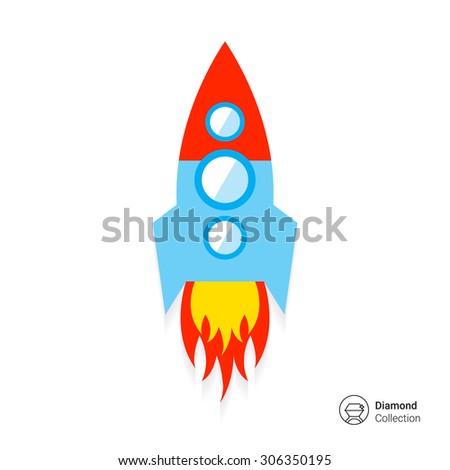 Space rocket icon - stock vector
