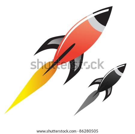 Space Rocket Vector - stock vector