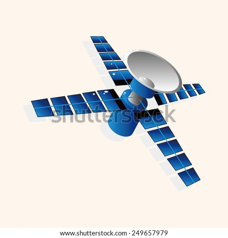 Space Satellite theme elements vector,eps - stock vector