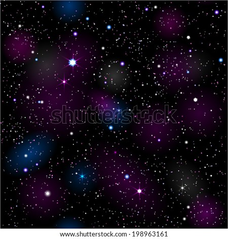 Space Seamless. EPS 10. Mask was used. - stock vector