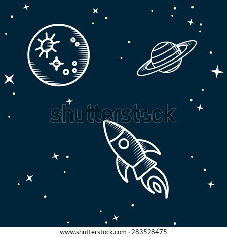 Space seamless. Vector Illustration