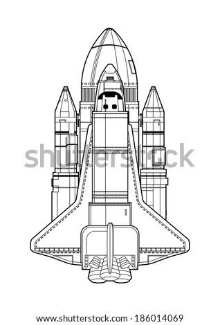 space shuttle - stock vector