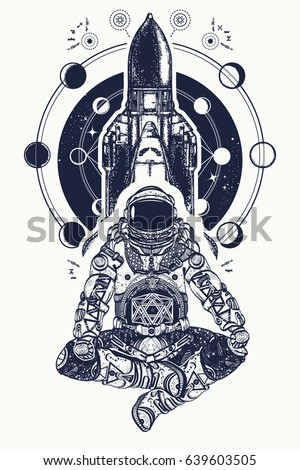 M Rank Space Shuttle And Astronaut