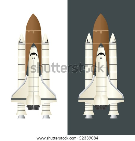 Space Shuttle icon vector isolated on white