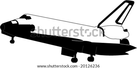 Space shuttle in approach - stock vector