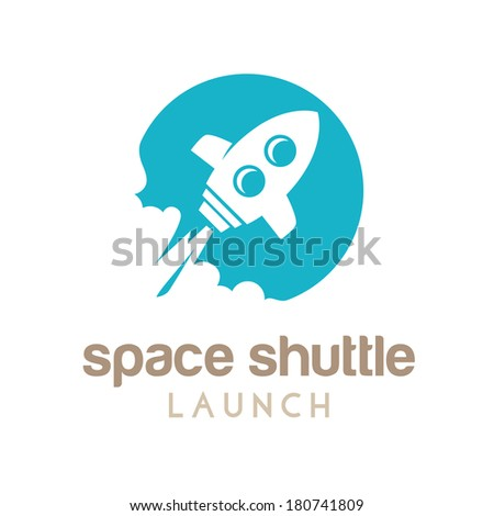 space shuttle launch - stock vector
