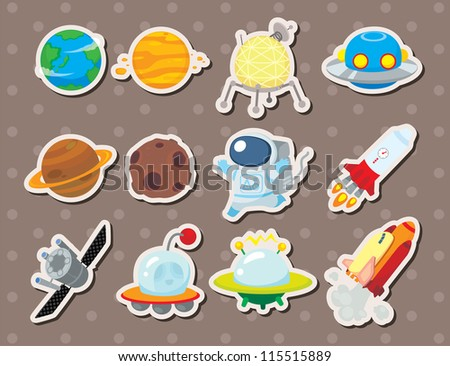 space stickers - stock vector