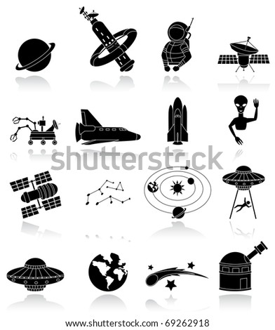 space travels - stock vector