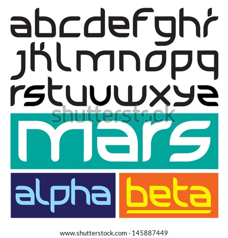Space Type Alpha - stock vector