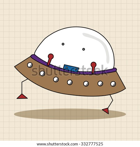 Space ufo theme elements - stock vector