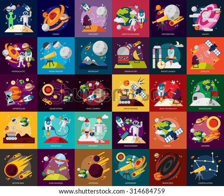 Space & Universe - stock vector