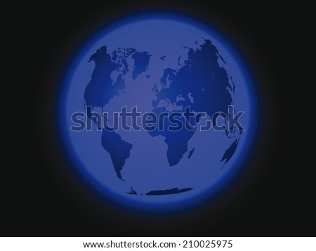 Space vector dark background with an image of the planet earth