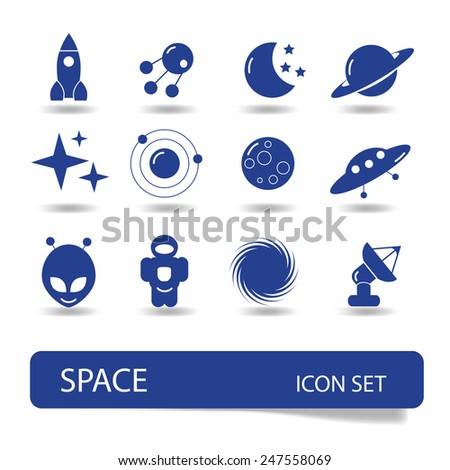 Space vector icon - stock vector