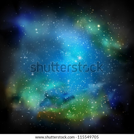 Space with many stars. Eps 10 - stock vector