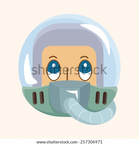 spaceman theme elements - stock vector