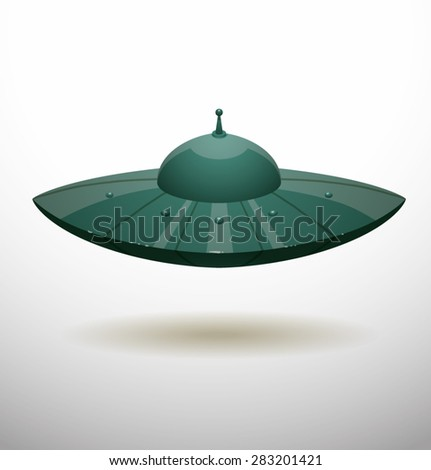 Spaceship, vector - stock vector