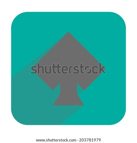 Spades icon - stock vector