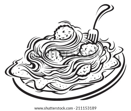 ... Spaghetti And Meatballs Stock Photos, Illustrations, and Vector Art