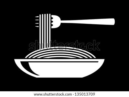 Spaghetti icon - stock vector
