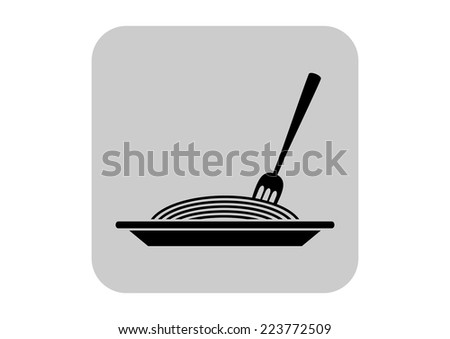 Spaghetti vector icon - stock vector