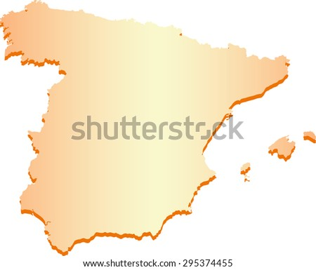 Spain map  - stock vector