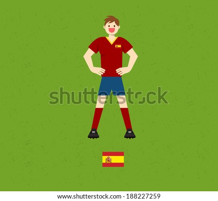 Spain Soccer Tables  - stock vector