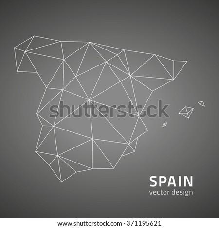 Spain vector map - stock vector