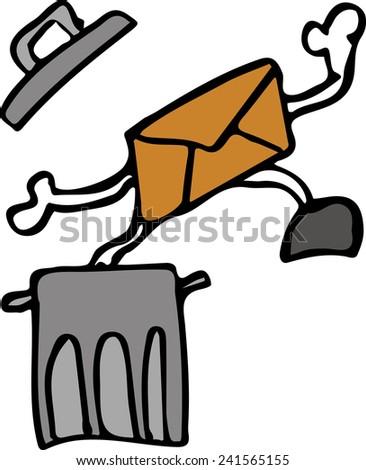 spam - stock vector