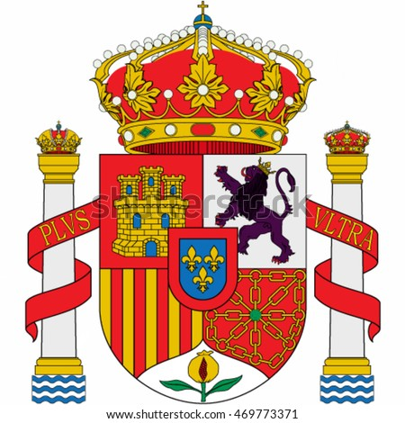 Spanish coat of arms - vector illustration.