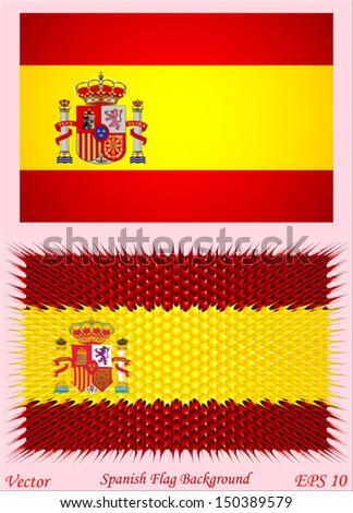 spanish flag background - stock vector