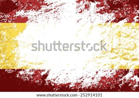 Spanish flag Grunge background. Vector illustration Eps 8. - stock vector