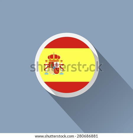 Spanish flag icon - stock vector