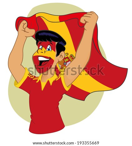 Spanish supporter vibrating